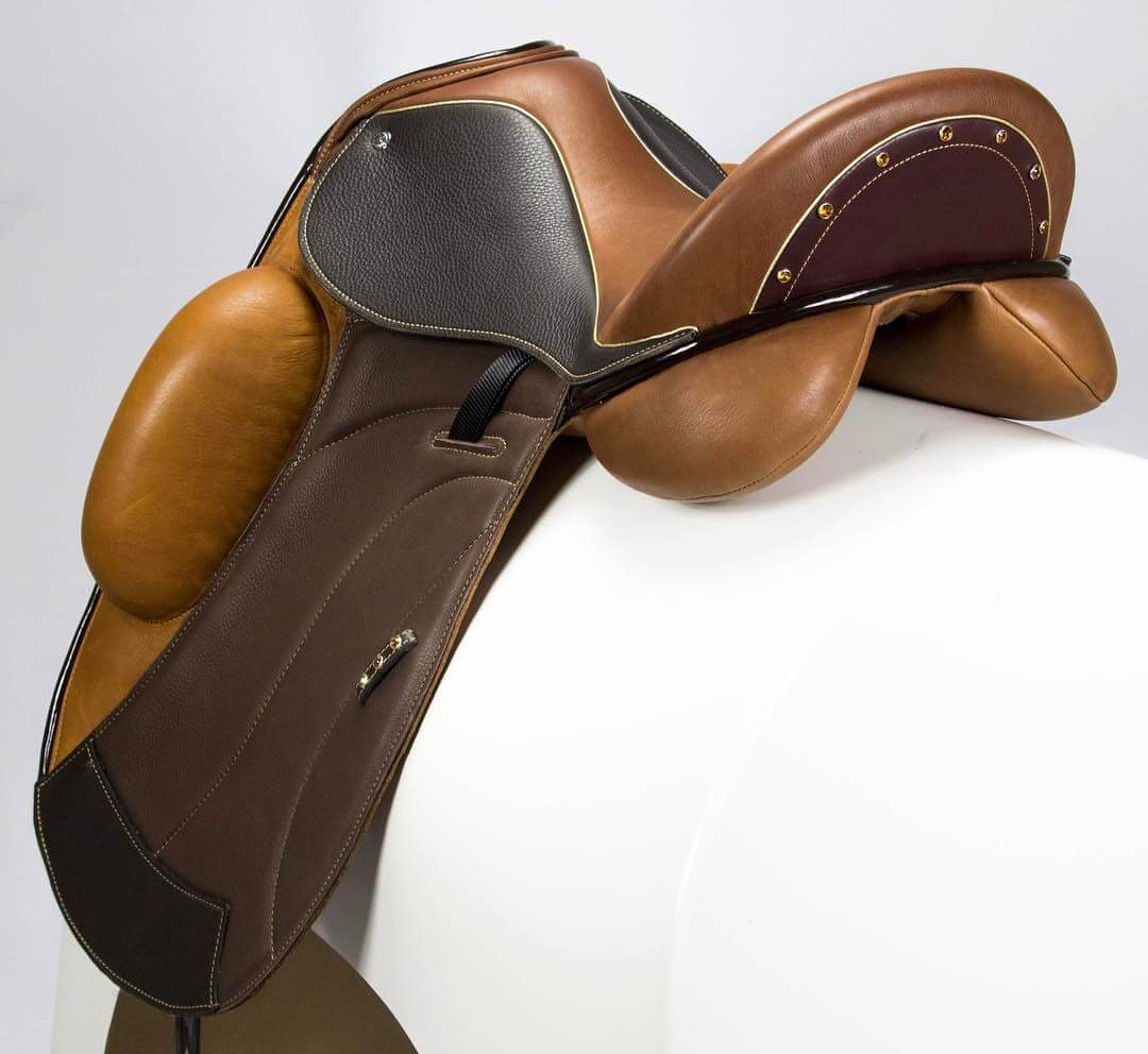 Icon multi brn gold crystals - Custom Saddlery, Dressage Saddles | Drakesaddlesavvy.com