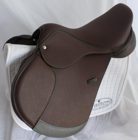 Jump acajou green twin - Custom Saddlery, Dressage Saddles | Drakesaddlesavvy.com
