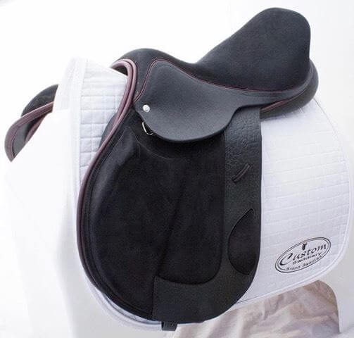 MC mono xc flap burgundy facing - Custom Saddlery, Dressage Saddles | Drakesaddlesavvy.com