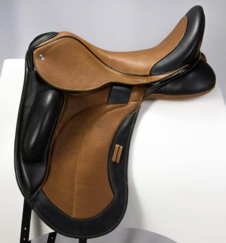 Everest mono caramel black vienna - Custom Saddlery, Dressage Saddles   Drakesaddlesavvy.com