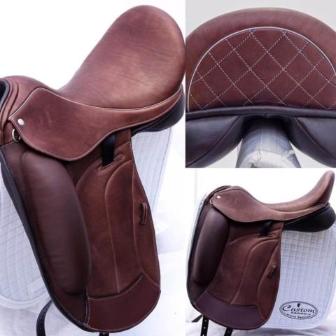 Flight mid brown vienna basketweave - Custom Saddlery, Dressage Saddles   Drakesaddlesavvy.com
