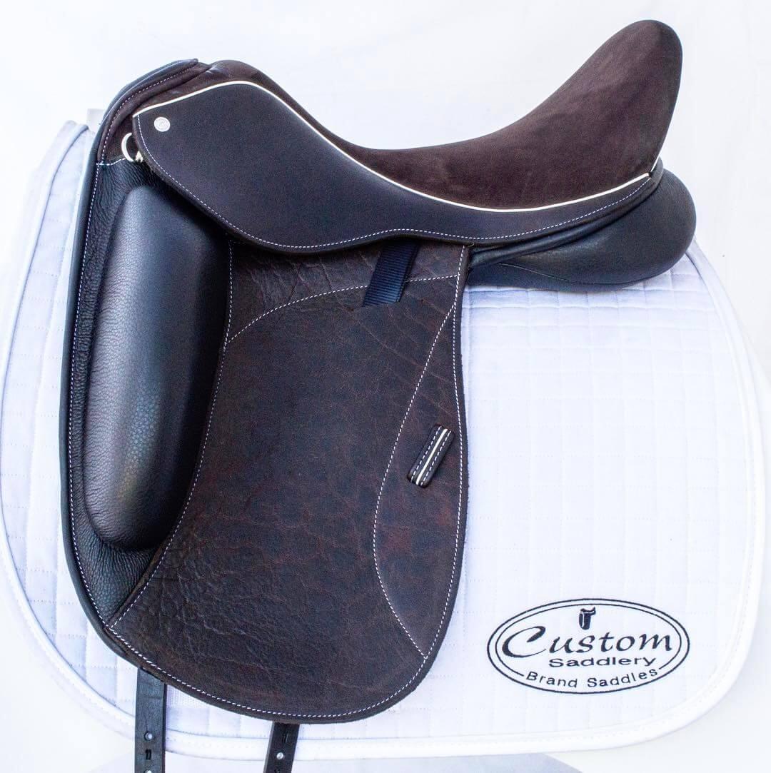 Star buff brn white welt - Custom Saddlery, Dressage Saddles   Drakesaddlesavvy.com